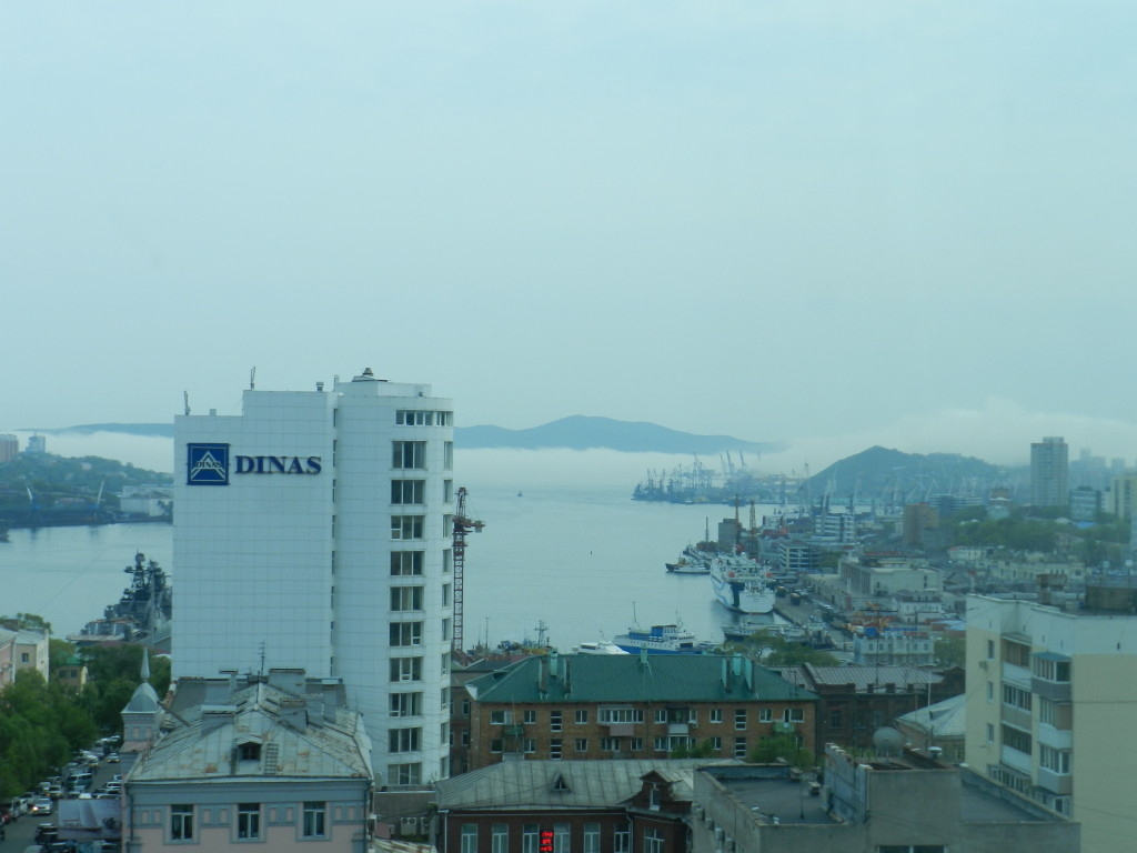 View from the 9th floor of Hotel Hyundai in Vladivostok