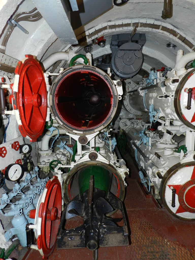 Torpedo launchers on the S-56 Submarine