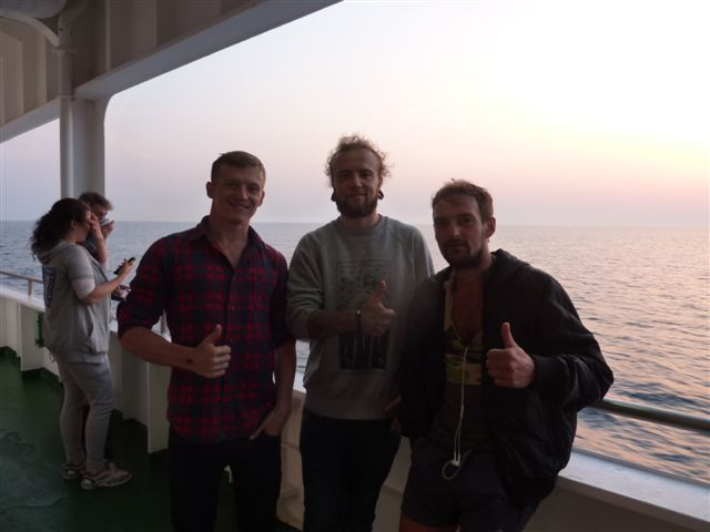 New Russian friends from the ferry