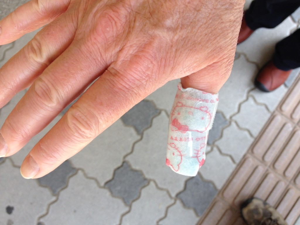 Hello Kitty bandage for thumb