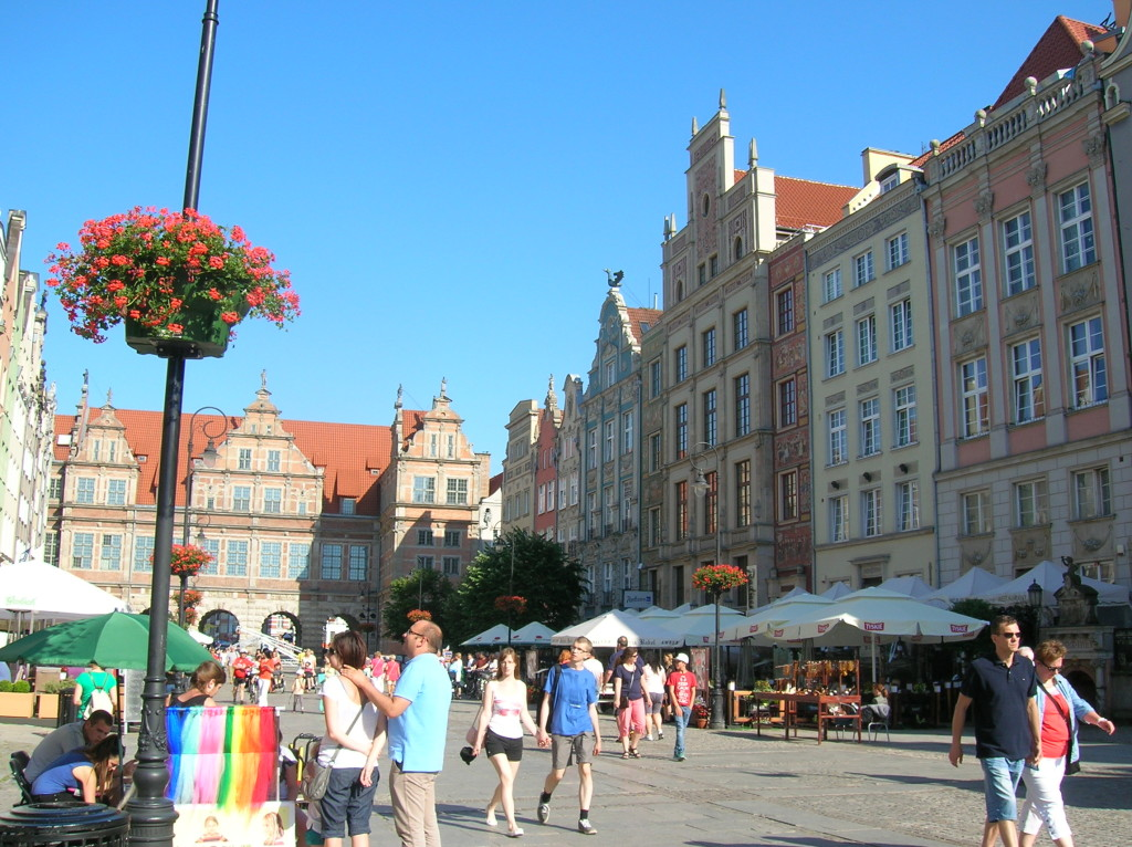 Typical street scene in Gdansk