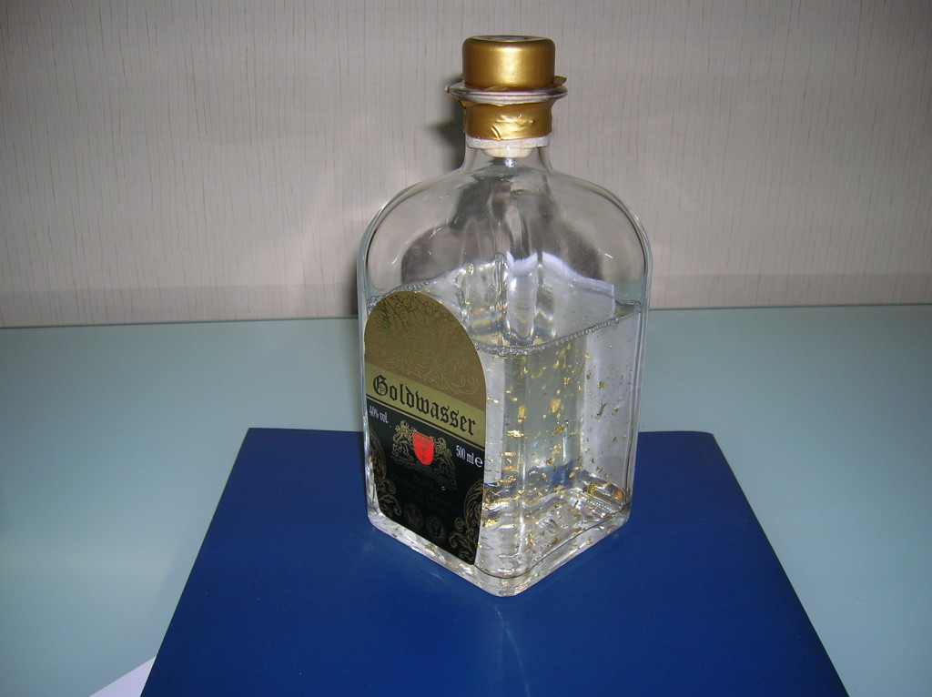 Goldwasser vodka liqueur