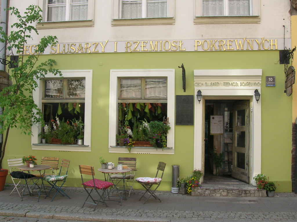 One of the many sidewalk cafes we saw in Poznan