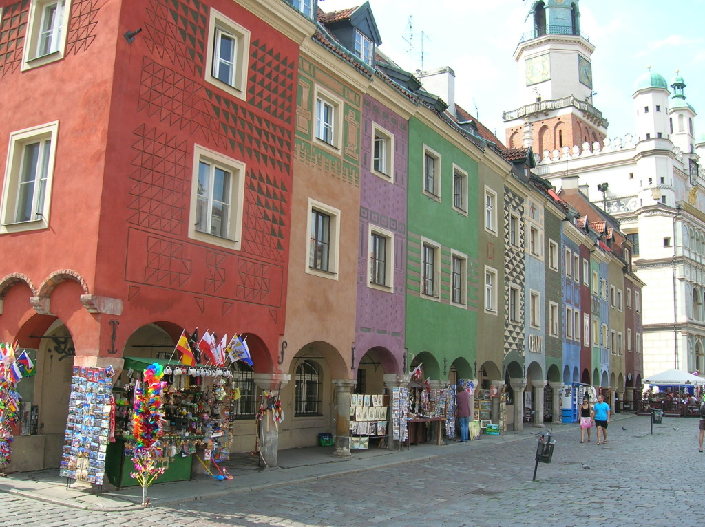 Street in the old town portion of Poznan