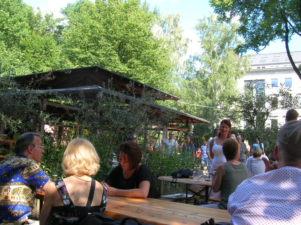 Beer Garden near our hotel in Berlin