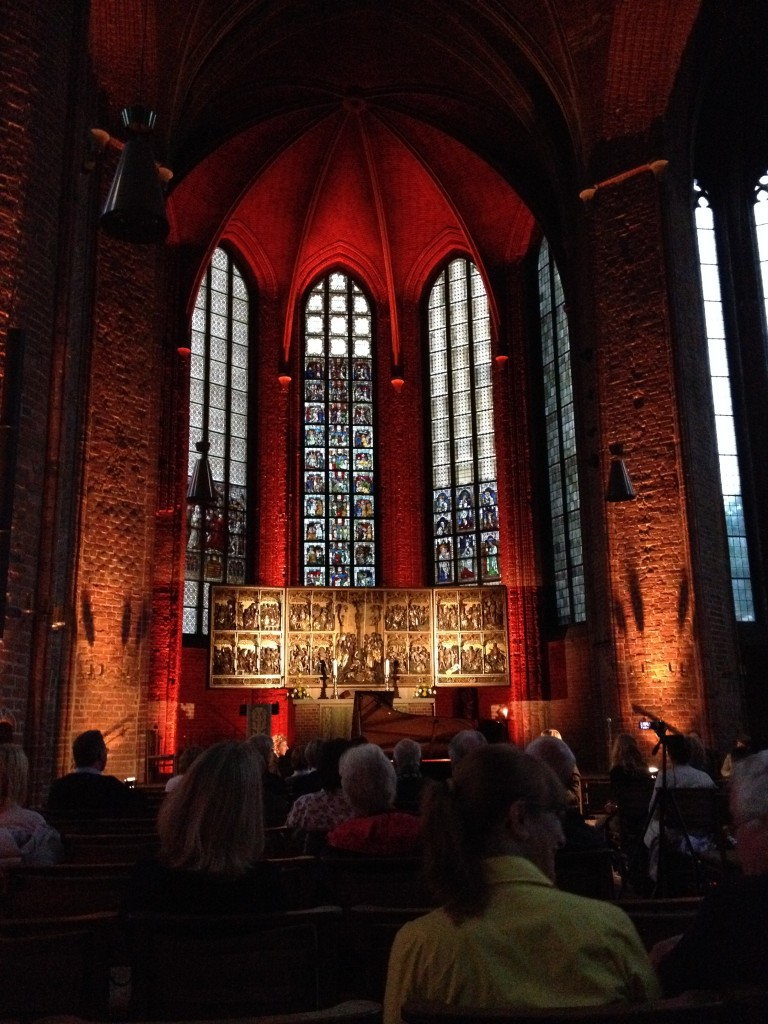 Inside of Market Church where the jazz concert was held