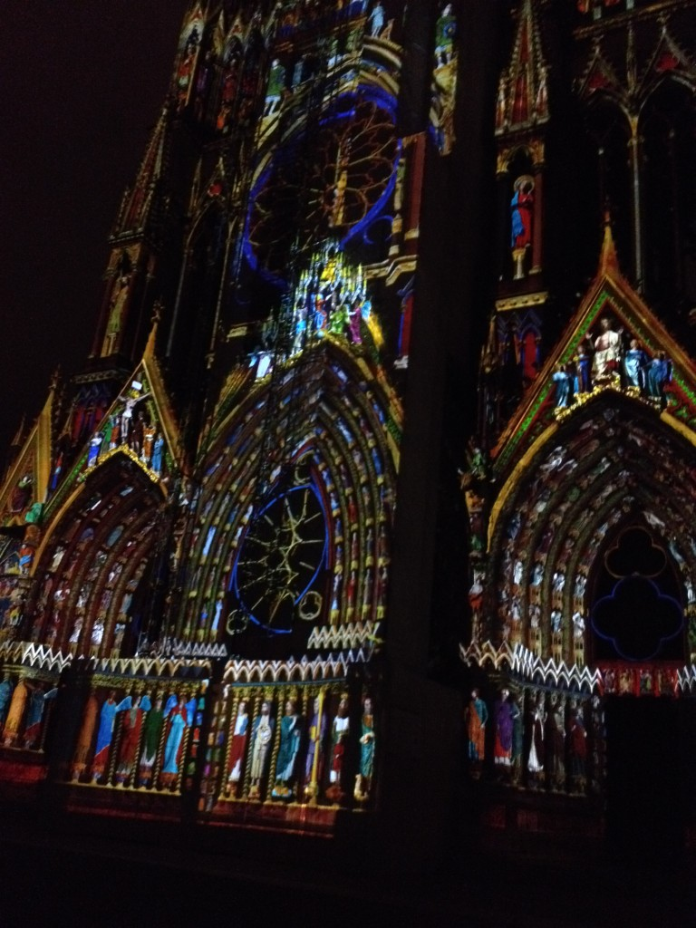 """Dream of Colors"" at the cathedral in Reims"