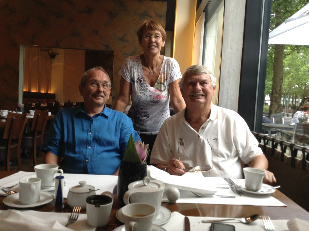 Leo with German friends Siegfried and Inge Niedek at our hotel in Berlin