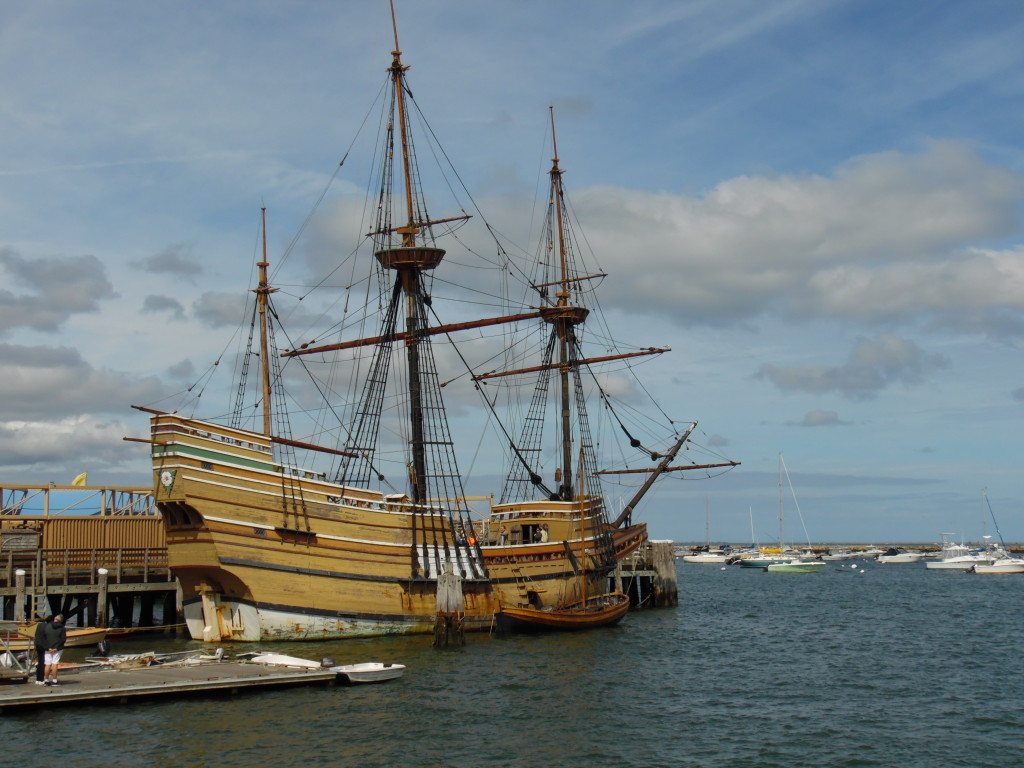 The Mayflower II....a rep[ca of the orignial. Can you believe this carried around 150 passengers on the original voyage