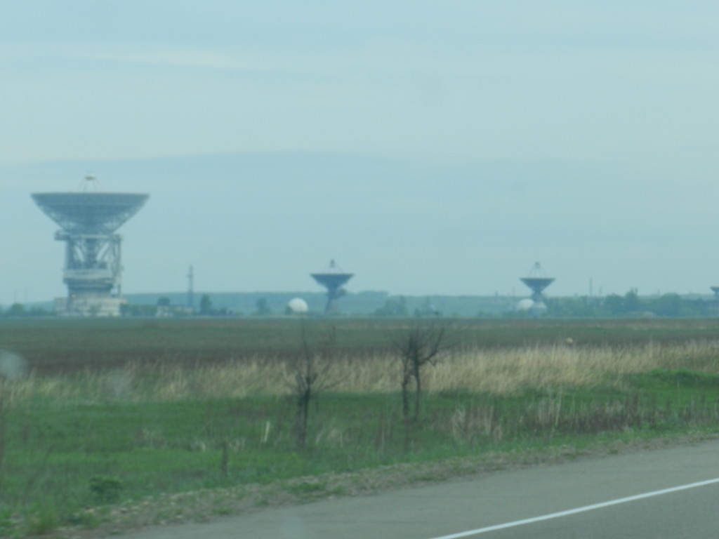 Radio telescopes or some sort of satellite dishes