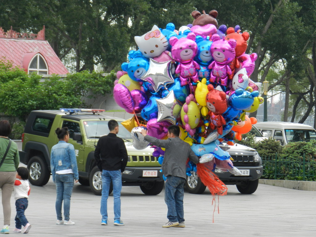 Balloon vendor in Harbin