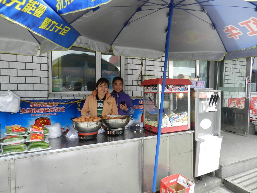 Vendor selling popcorn