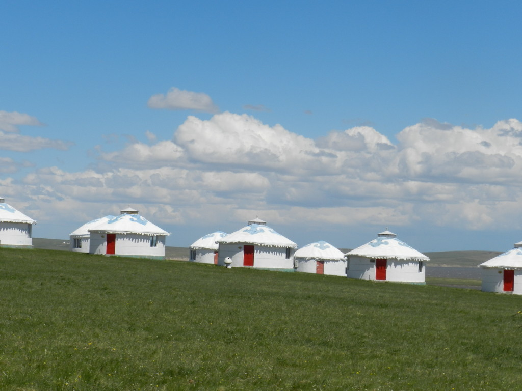 Yurt hotel rooms at Mongolian resort