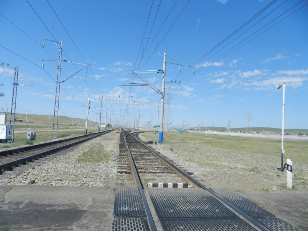 Trans-Siberian Railway on the drive to Chita