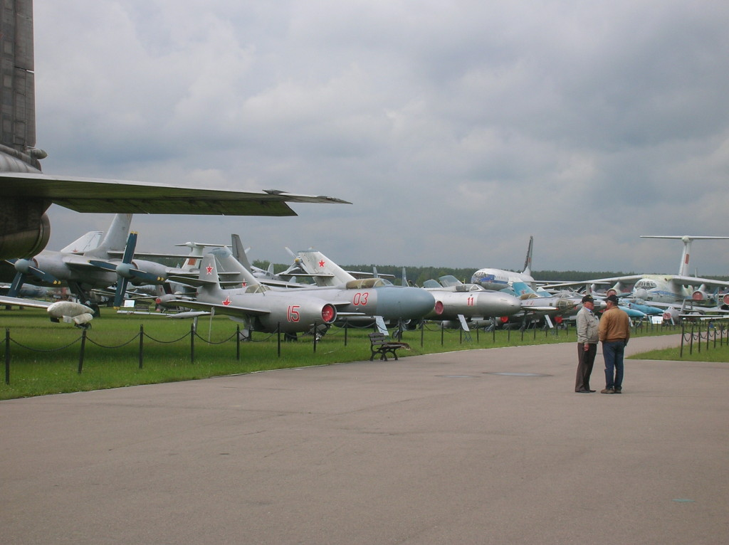 A small part of the outdoor collection at the Russian Federation Air Force Museum