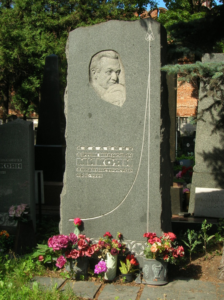 Grave of Mikoyan of MiG fame