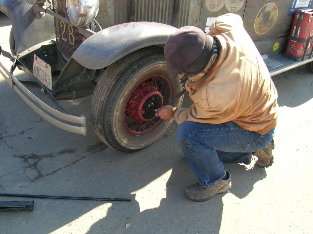 Quick tire change