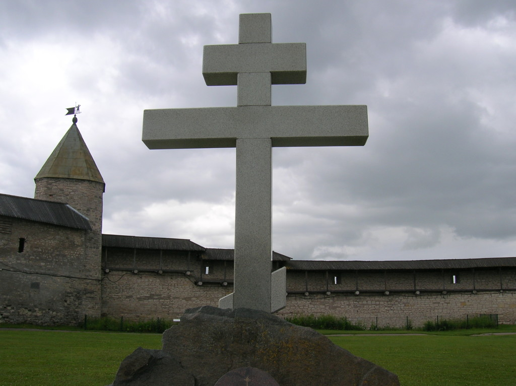 Cross erected on site of original church