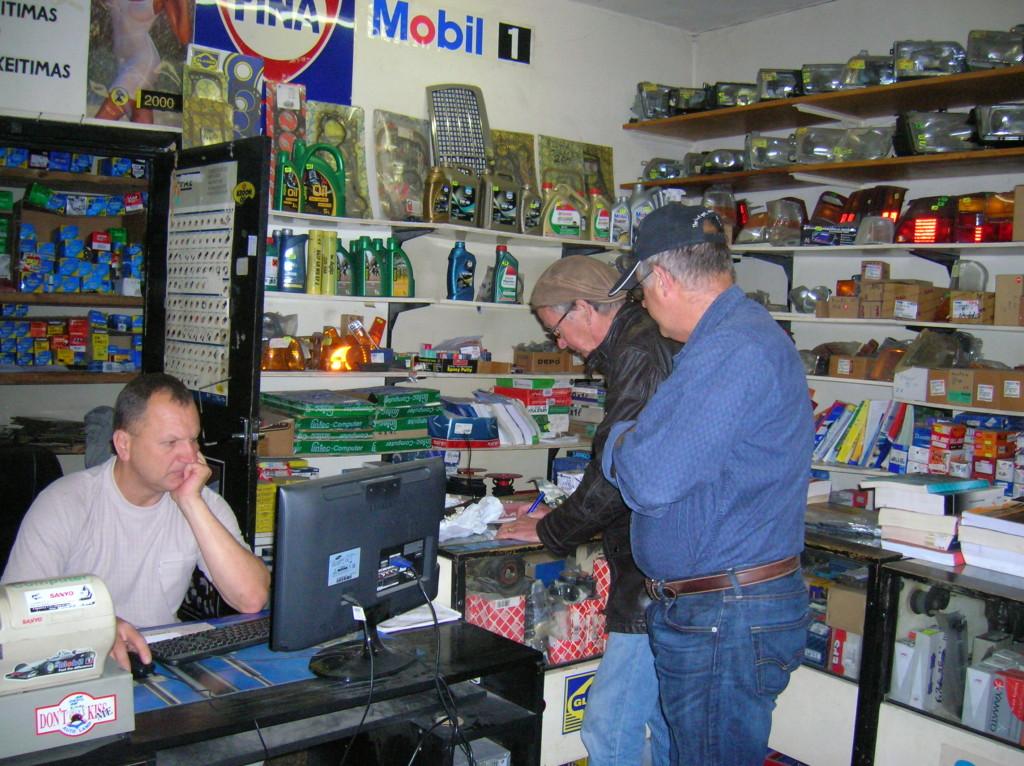 Auto parts store in Vilnius