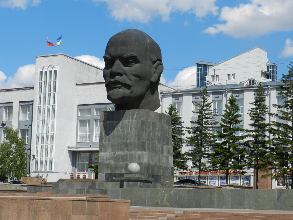 World's largest Lenin head, located in Ulan Ude