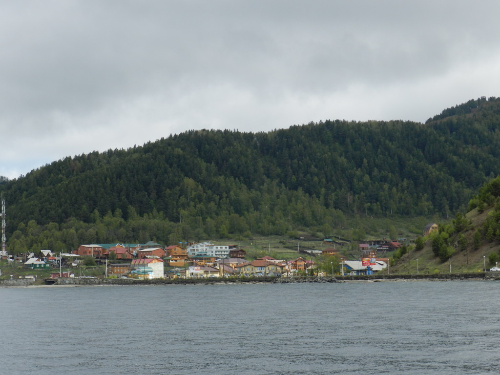 Listvanka viewed from Lake Baikal