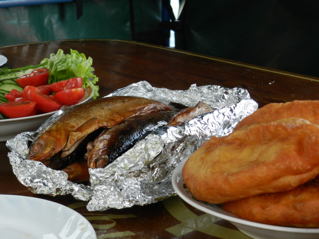 Smoked Omul, the local delicacy