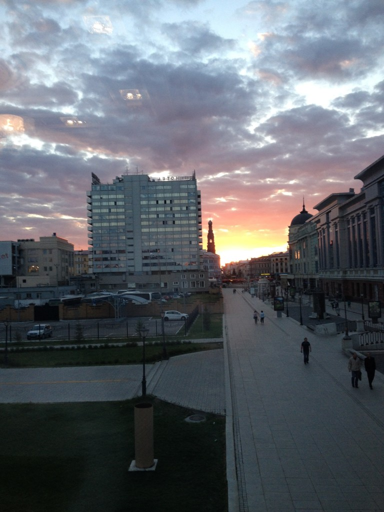 Sunset last night in Kazan