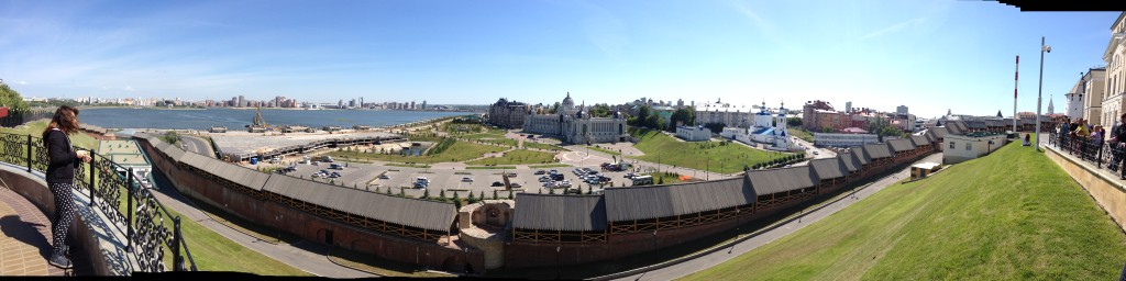 Panoramic view of Kazan from the Kremlin