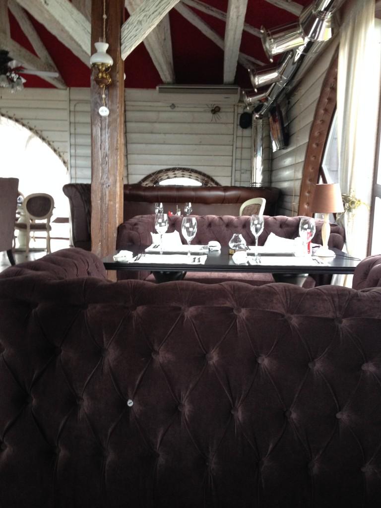 Inside the Panorama Restaurant in Vladimir