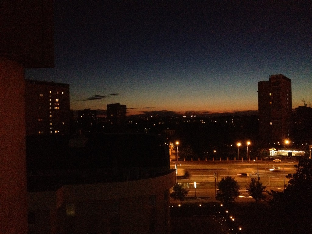 Moscow sunset about midnight