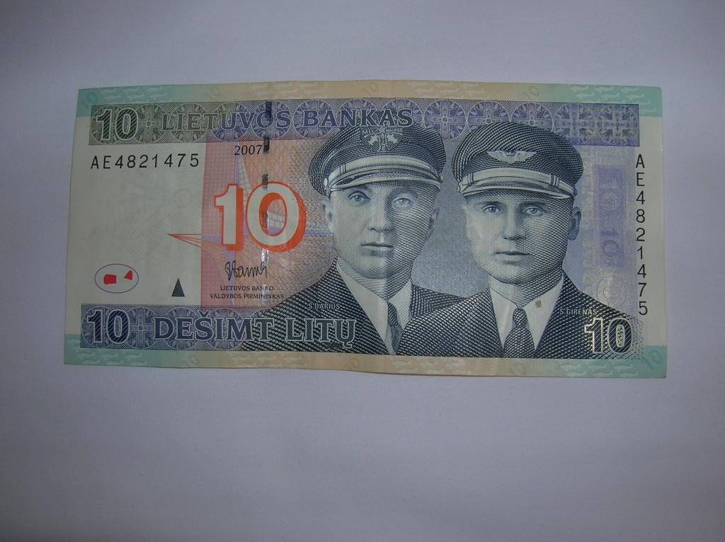 Front of 10 lita bill