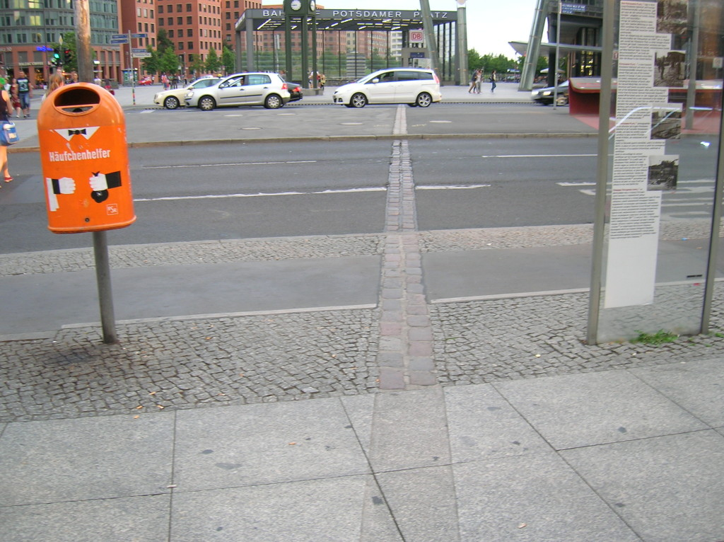Location of the former Berlin Wall