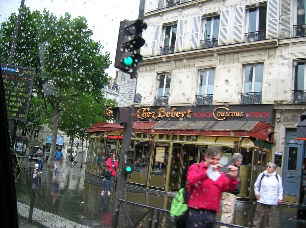 Wet arrival into Paris