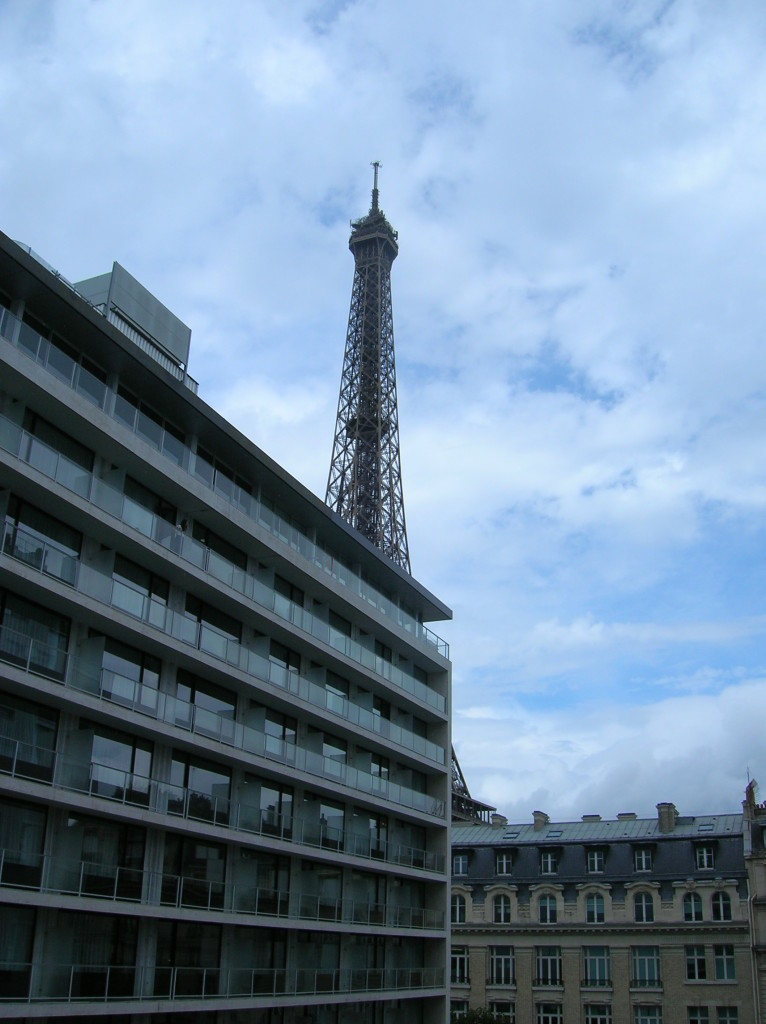 View of the Eiffel Tower from my hotel room