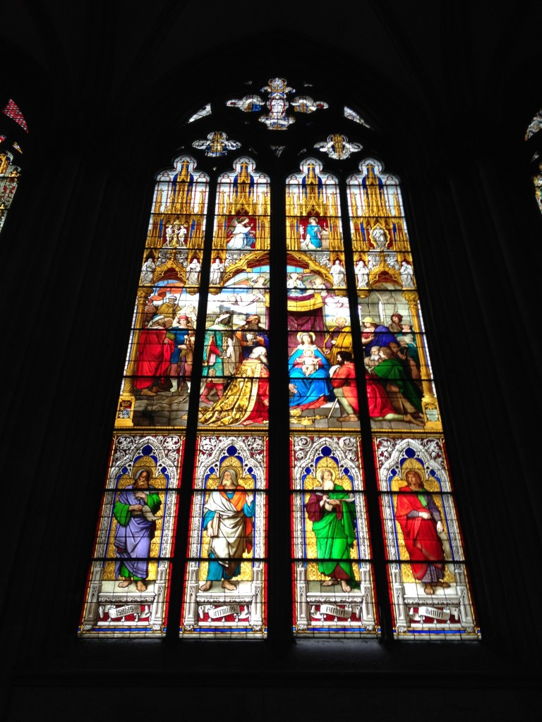 Example of stained glass window at Cologne Cathedral