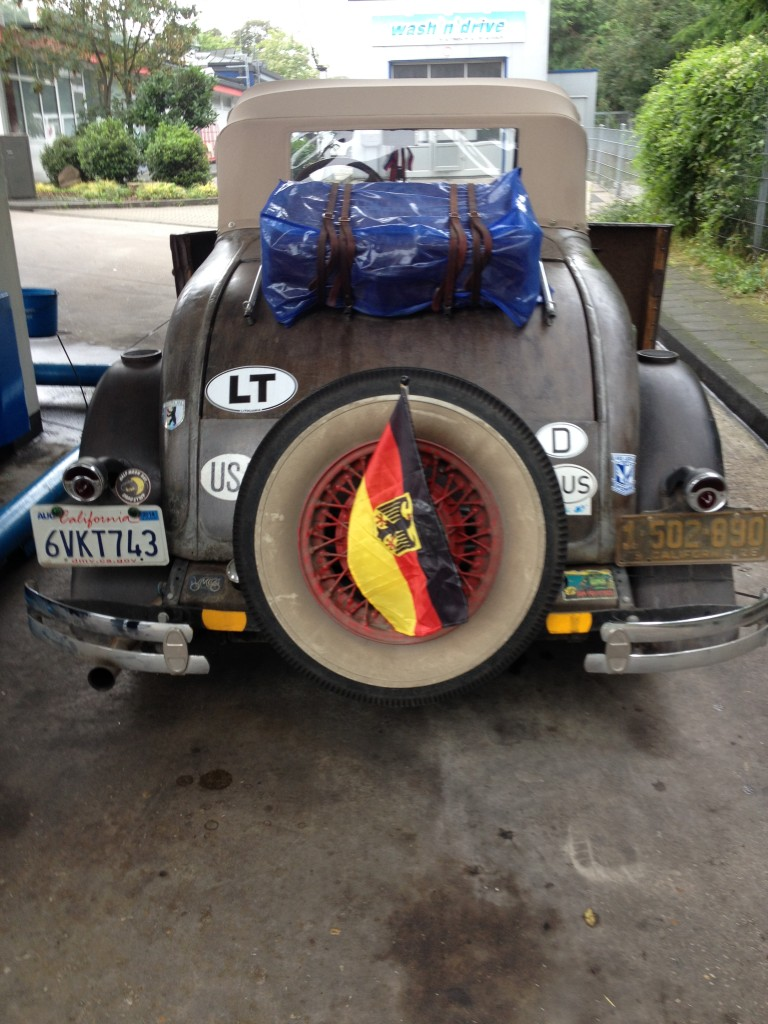 German flag on the Roadster