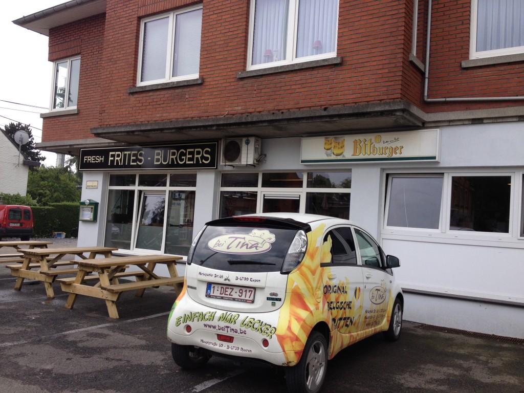 Frites place in Eupen, Belgium