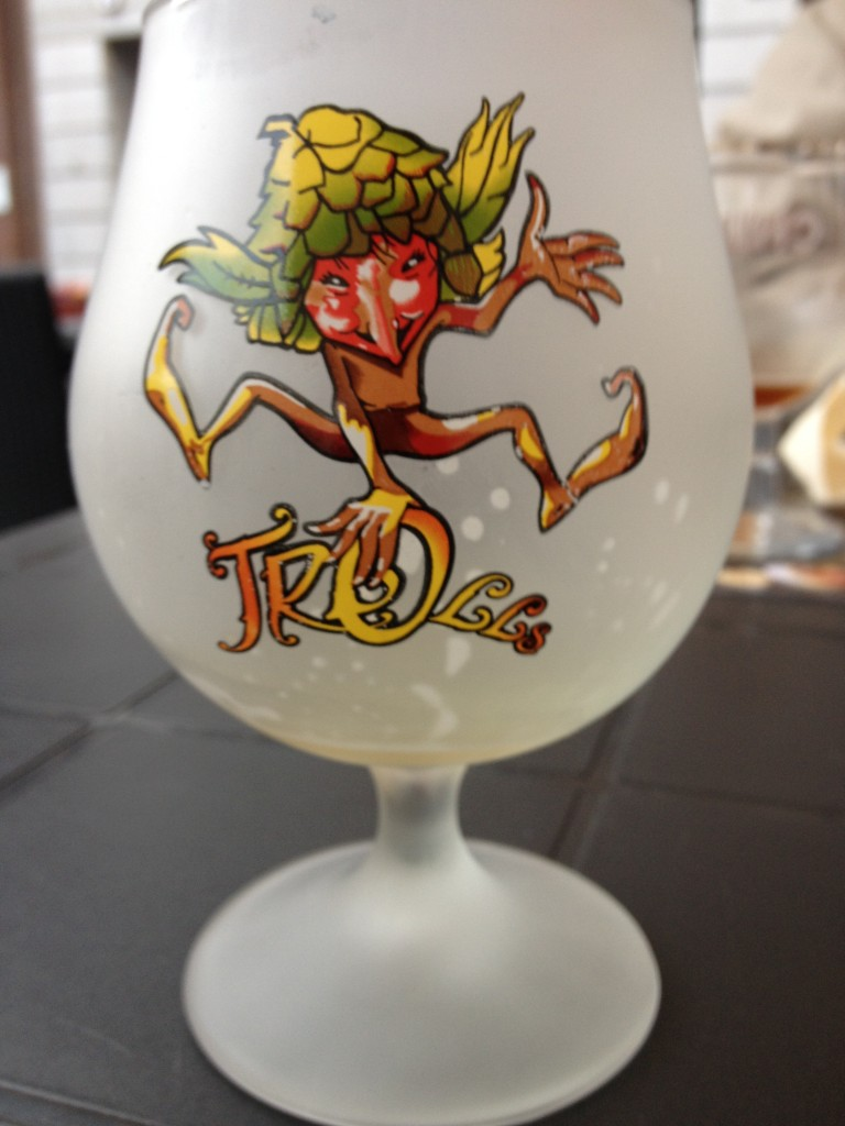 Glass for Troll beer