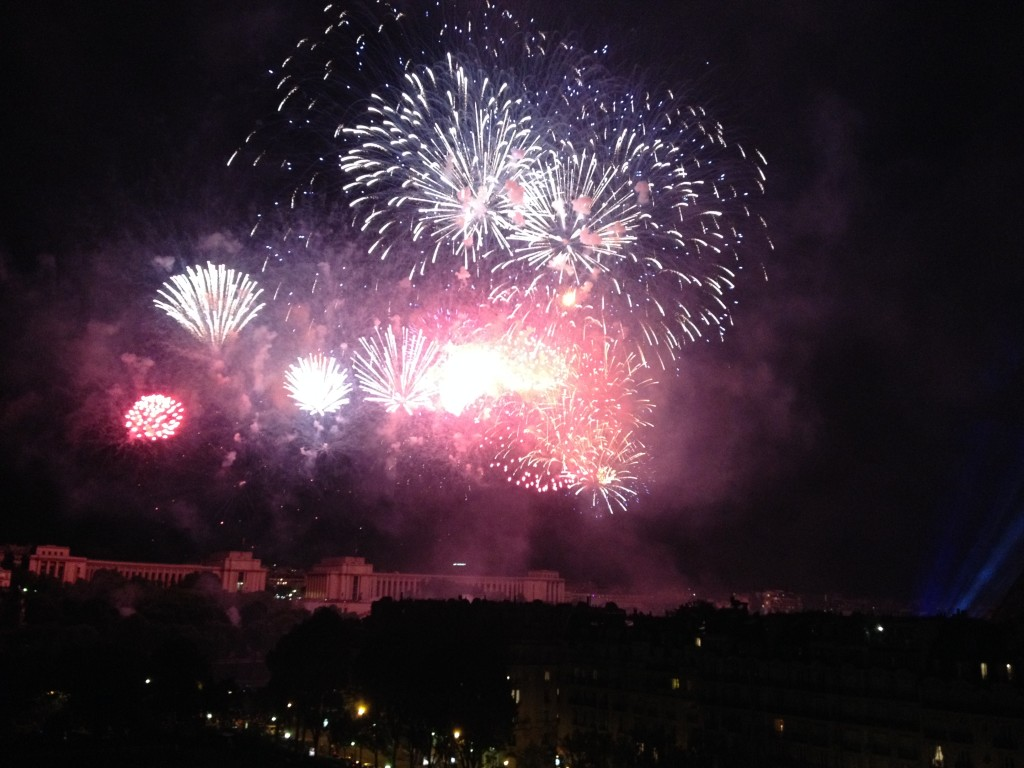Fireworks over the Seine River