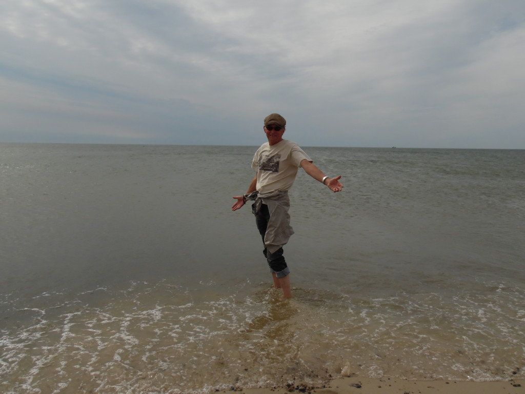 Yours truly in the North Sea