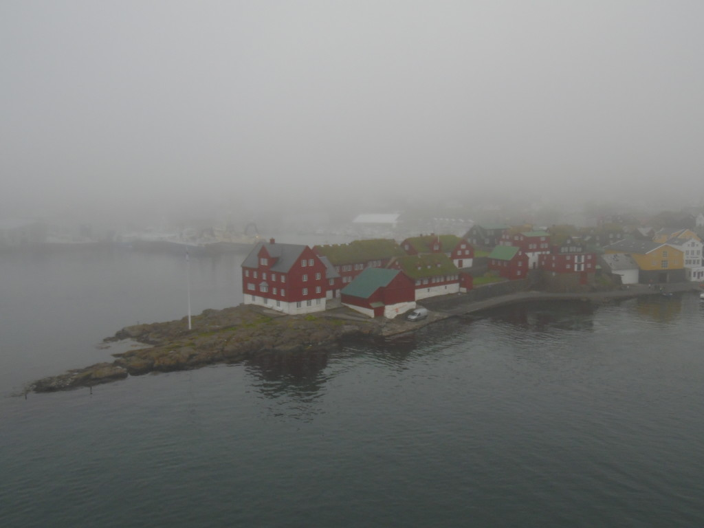 A Very Foggy Day Entering the Harbor at the Faroe Islands
