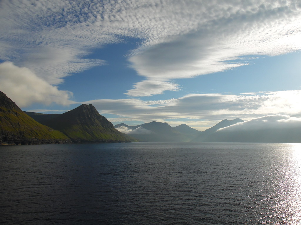 Leaving the Faroe Islands