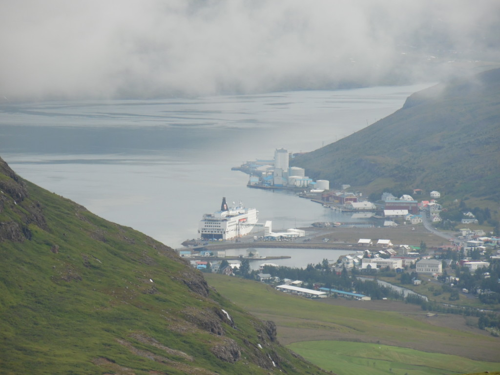 The harbor at Seyoisfjordour where our ferry docked
