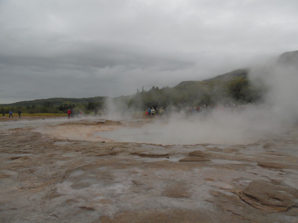 The wait for the geyser