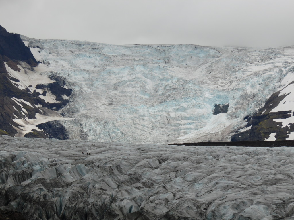 This is one impressive glacier...looks like  a waterfall