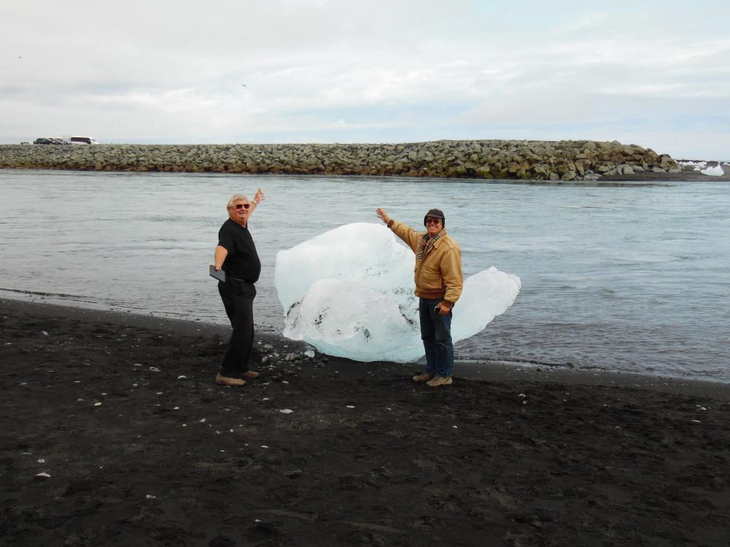 "Luke and Leo on ""ice burg beach""...."