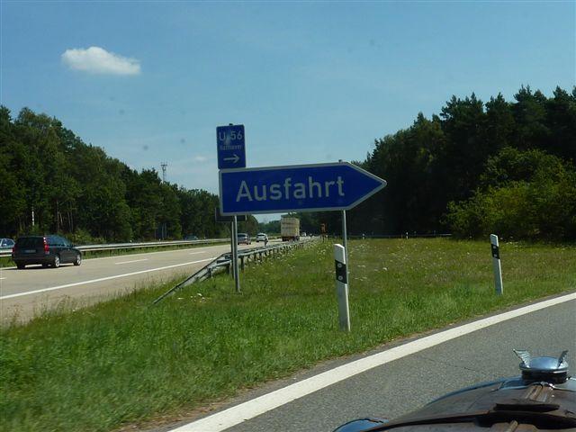 German Autobahn Sign