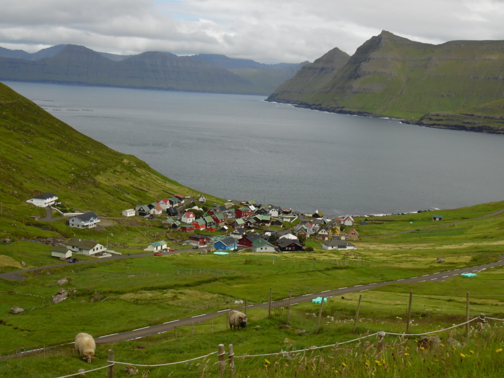 High up on a mountain road overlooking a typical fjord ....