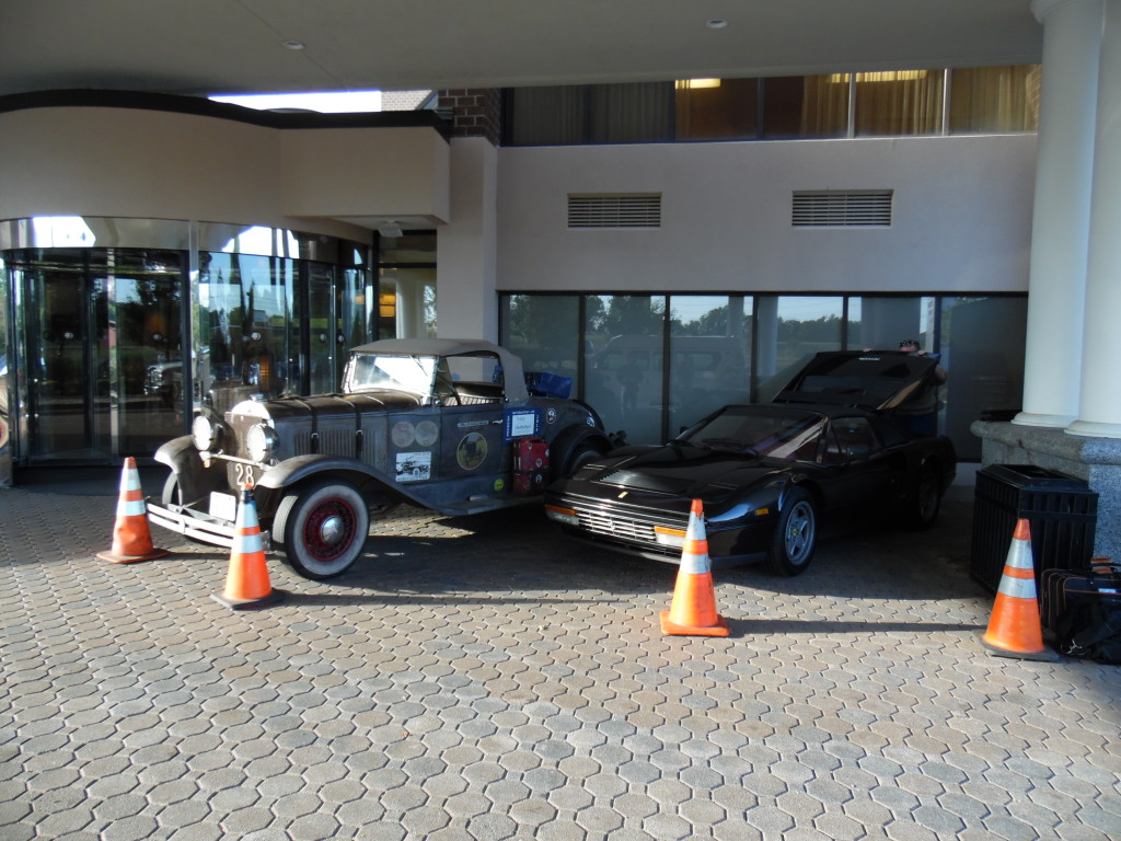 60 years of technology...my 1928 Plymouth and Tom Saupe's 1988 Ferrari