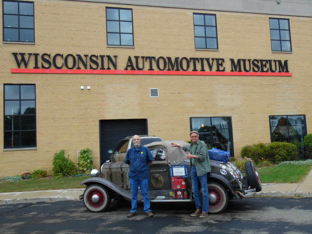 Mark and I in front of the Wisconsin Automotive Museum in Hartford, WI
